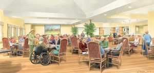 Rendering of the Dining Room Enhancements